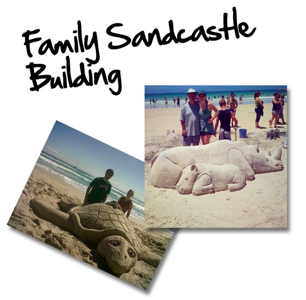 Sand castle building cape town