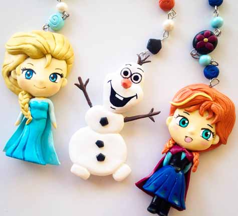 frozen themed polymer keyrings