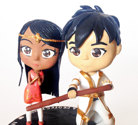 chibi wedding cake topper
