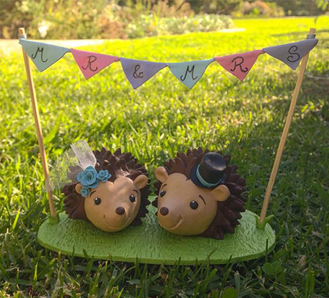 Hedgehog Wedding Cake Topper