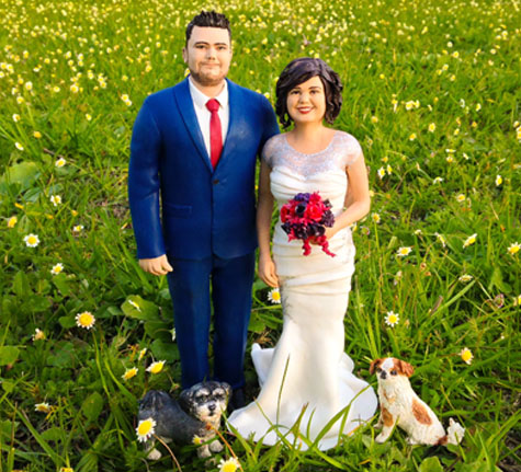 Polymer wedding topper