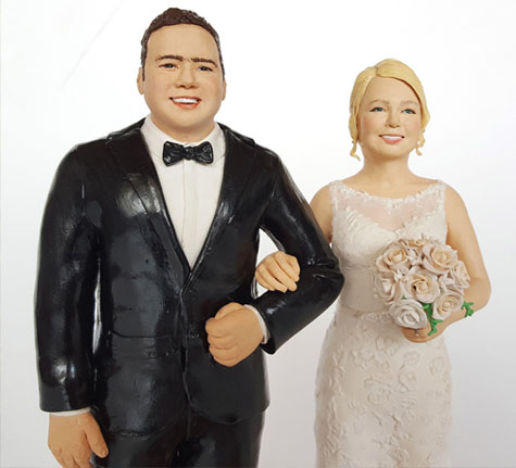hyper realistic wedding cake toppers
