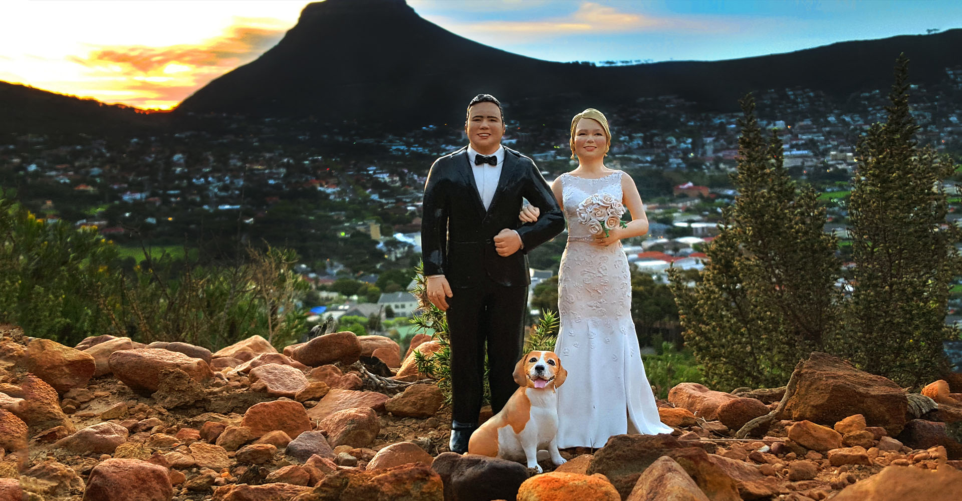 realistic wedding cake toppers cape town