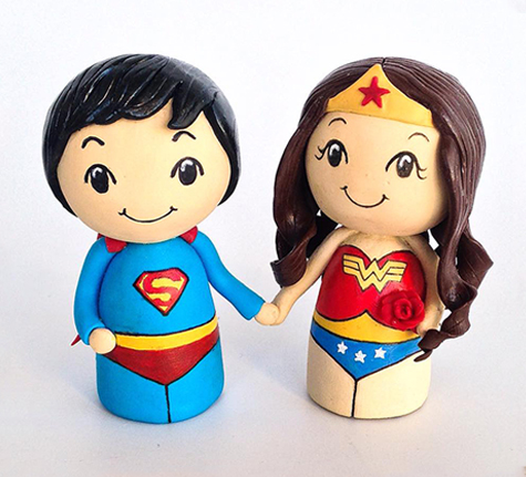 superman and wonder woman wedding cake toppers superman amp wonderwoman wedding cake toppers tessa s 20615