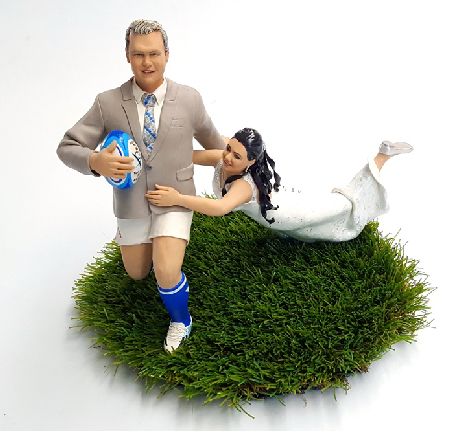 rugby tackle wedding cake topper gallery tessa s figurines 19466